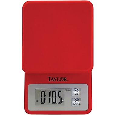 Taylor 3817R Compact Digital Kitchen Scale, Red