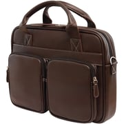 Mobile Edge Tech 14 PC/15 MacBook Briefcase, Brown