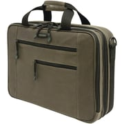 "Mobile Edge Eco-Friendly 16"" PC/17"" MacBook Briefcase, Black/Olive Green"