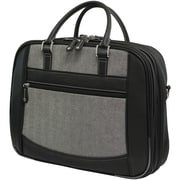 Mobile Edge ScanFast Large 16 Laptop Briefcase, Black/White