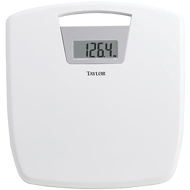 Taylor 70484012 Digital Scale With Antimicrobial Platform, White/Silver