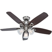 "Hunter 42"" Builder Small Room Ceiling Fan, Brushed Nickel"