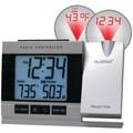 LA Crosse Technology® Atomic Projection Alarm Clock With Indoor/Outdoor Temperature