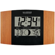 LA Crosse Technology® Atomic Digital Clock With Outdoor Temperature, Oak Wood