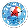 Taylor 14in. Beach Ball Clock With Thermometer
