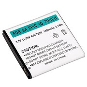 Insten® 525299 3.7 VDC Rechargeable Li-ion Battery For Samsung Galaxy S II Epic 4G, Black