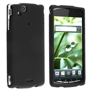 Insten® Snap-in Rubber Coated Case For Sony Ericsson Xperia Arc X12
