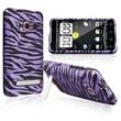 Insten® Snap-in Case For HTC EVO 4G, Purple/Black Zebra
