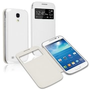 Insten®  Leather Back Cover Cases For Samsung Galaxy S4 Mini i9190, White