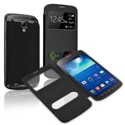 Insten®  Leather Back Cover Cases For Samsung Galaxy S4 Active i9295, Black