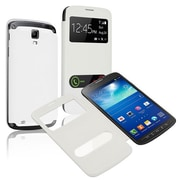 Insten®  Leather Back Cover Cases For Samsung Galaxy S4 Active i9295, White