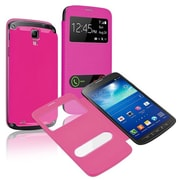 Insten®  Leather Back Cover Cases For Samsung Galaxy S4 Active i9295, Hot Pink