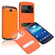 Insten®  Leather Back Cover Cases For Samsung Galaxy S4 Active i9295, Orange