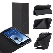 Insten® Leather Case With Foldable Stand For Samsung Galaxy S3, Black
