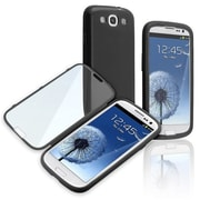 Insten® Book TPU Case For Samsung Galaxy S3 i9300, Black/Clear