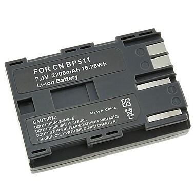 Insten® 240188 7.4 V Rechargeable Li-ion Battery For Canon BP-511, Black