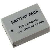 Insten® 448933 7.4 V Rechargeable Li-ion Battery For Canon NB-10L, Gray