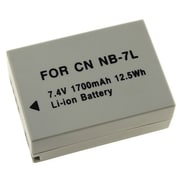 Insten® 242648 7.4 V Rechargeable Li-ion Battery For Canon NB-7L, Gray