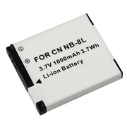 Insten® 283192 3.7 VDC Rechargeable Li-ion Battery For Canon NB-8L, White