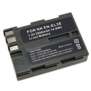 Insten® 238939 7.4 V Rechargeable Li-ion Battery For Nikon EN-EL3e, Gray
