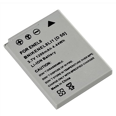 Insten 209574 3.7 V Rechargeable Li ion Battery For Nikon EN EL8 Gray