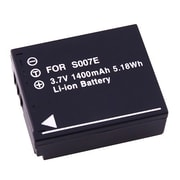 Insten® 221570 3.7 VDC Rechargeable Li-ion Battery For Panasonic CGA-S007/CGR-S007, Black