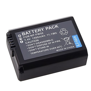 Insten® 311863 7.4 VDC Rechargeable Li-ion Battery For Sony NP-FW50, Black