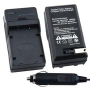 Insten® 247700 12 VDC Compact Battery Charger Set For Nikon EN-EL1 / NP-800, Black