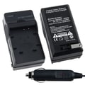 Insten® 247718 4.2 + or - 0.5 VDC Compact Battery Charger Set For Panasonic CGA-S007 / DMW-BCD10, Black