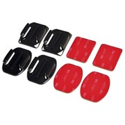 Insten® 1774487 4 Piece Flat/Curved Mount Set With Adhesive Pads For GoPro Hero 1/2/3/3+