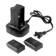Insten® 393219 Dual Battery Charging Station For Microsoft Xbox 360, Black