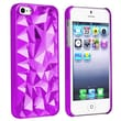 Insten® Snap-in Case For Apple iPhone 5/5S, Clear Purple Diamond Cut