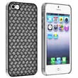 Insten® Snap-in Case For Apple iPhone 5/5S, Black Twill