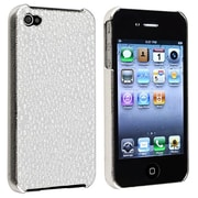 Insten® Snap-in Case For Apple iPhone 4/4S, Silver Chrome Water Drop