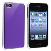 Insten® Snap-in Case For Apple iPhone 4/4S, Shiny Purple