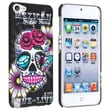 Insten® Snap-in Rubber Coated Case For Apple iPod Touch® 5, Colorful Skull