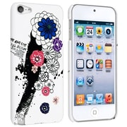 Insten® Snap-in Rubber Coated Case For Apple iPod Touch® 5, White Flower Rear Style 18