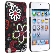Insten® Snap-in Rubber Coated Case For Apple iPod Touch® 5, Flower Rear Style 21