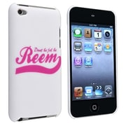 Insten® Snap-in Rubber Coated Case For Apple iPod Touch® 4, White
