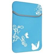 Insten® Reversible Laptop Sleeve For 13 Apple MacBook Pro/Air, Blue Flower