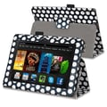 Insten® Leather Stand Case For Amazon Kindle Fire HDX 7in., Black/White Dot