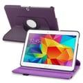 Insten® 360-Deg Swivel Leather Stand Case For Samsung Galaxy Tab 4 10.1in. T530, Purple