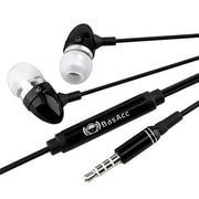BasAcc 718633 In-Ear Stereo Headset With On/Off Button, Black
