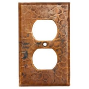 Premier Copper Products Copper Switchplate Single Duplex, 2 Hole Outlet Cover in Oil Rubbed Bronze