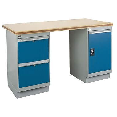 Kleton Workbench, Shop Top, 2 Pedestals, 2 Drawers and 1 Door