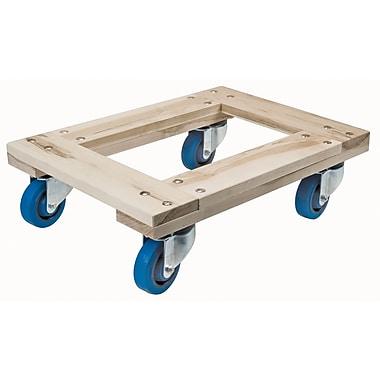 KLETON – Socle roulant robuste en bois d'érable, tout en bois