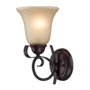 "Elk Lighting Brighton 5821001WS-109 11"" x 6"" 1 Light Wall Sconce, Oil Rubbed Bronze"