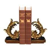 Sterling Industries 58293-68139 Set of 2 Cresting Leaf Decorative Bookends, Gold