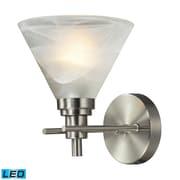 """Elk Lighting Pemberton 58211400-1-LED9 9"""" x 7"""" 1 Light Vanity, Brushed Nickel"""