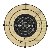 Sterling Industries 58226-86739 Target Practice Wall Clock, Black/Beige Face